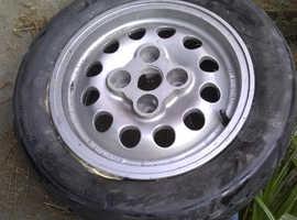 4 x Peugeot 205 GTI Pepper Pot Speedline Wheels and Tyres