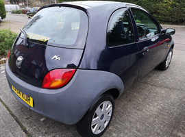 Ford Ka, 2004 (54) Blue Hatchback, Manual Petrol, 99,000 miles