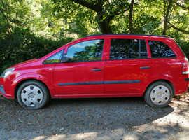 Vauxhall Zafira, 2006 (55) Red MPV, Manual Petrol, 138,242 miles