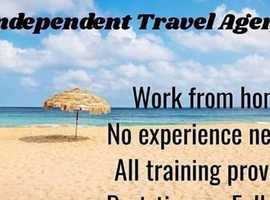 Work from home as an independent travel agent