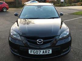 Mazda MAZDA 3, 2007 (07) Black Hatchback, Manual Petrol, 8,000 miles