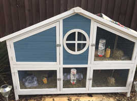 Guineapig/ rabbit hutch playpen and accessories £75