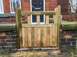 Pressure treated gates