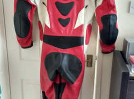 One Piece Leather Biker Suit
