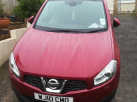 Nissan Qashqai, 2010 (10) Red MPV, Manual Diesel 1.5 dci, 84,300 miles