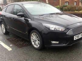 67 FORD FOCUS 1.0cc Ecoboost~Panther Black~Only 27k Miles Real~Bargain £8500~