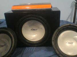 Car speakers + amp