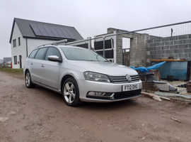 Volkswagen Passat, 2012 (12) Silver Estate, Manual Diesel, 201,000 motorway miles.