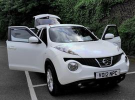 Nissan Juke, 2012 (12) White Estate, Manual Diesel, 28,455 miles