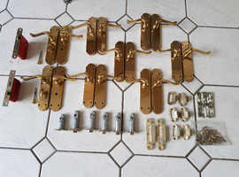 Brass Door Handles - 8 pairs (will separate)