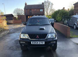 Mitsubishi L200, 2004 (54) Black 4x4, Manual Diesel, 94,482 miles