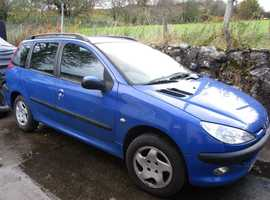 Peugeot 206, 2003 (53) Blue Estate, Manual Diesel, 98k miles