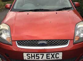 Ford Fiesta, 2007 (57) Red Hatchback, Manual Petrol, 66,600 miles
