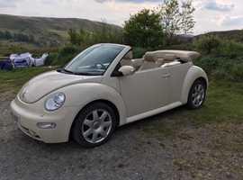 Volkswagen Beetle, 2005 (05) Beige Convertible, Automatic Petrol, 99,150 miles