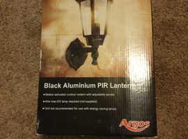 Argos black aluminium PIR lantern
