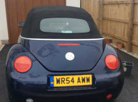 Volkswagen Beetle, 2004 (54) Blue Convertible, Manual Petrol, 105,000 miles