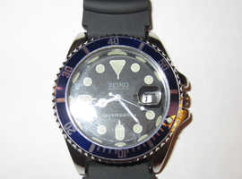vintage seiko diver,s style watch in exc condition