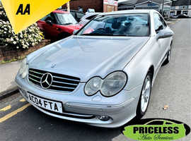Mercedes Clk, 2004 (04) Silver Coupe, Automatic Diesel, 115,141 miles