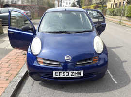 Nissan Micra, 2003 (53) Blue Hatchback, Automatic Petrol, 48,500 miles
