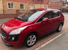 Peugeot 3008 Sport 2.0 HDI 2010 (59) Red MPV. Diesel, 59,000 miles