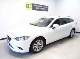 Mazda MAZDA 6, 2015 (65) White Estate, Automatic Diesel, 96,000 miles