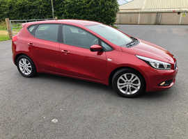 Kia Ceed, 2014 (14) Red Hatchback, Manual Petrol, Only 27,000 miles
