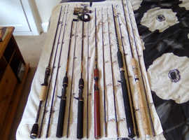 New unused rods and reels