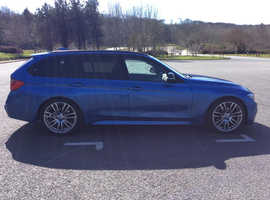 BMW 3 Series, 2012 (62) Blue Estate, Automatic Diesel, 145,000 miles