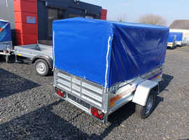 BRAND NEW MODEL 7x4 TRAILER WITH FRAME 80CM COVER AND RAMP.