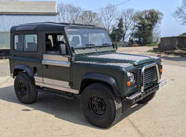 Land Rover Defender, 1985 (B) green 4x4, Manual Diesel, 85284 miles