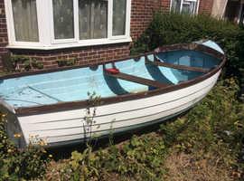 Fibreglass clinker harbour boat