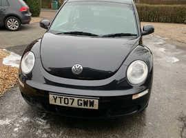 Volkswagen Beetle, 2007 (07) Black Hatchback, Manual Petrol, 136,000 miles