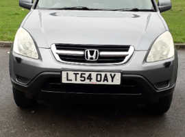 Honda CR-V, 2004 (54) Grey Estate, Manual Petrol, 73,100 miles