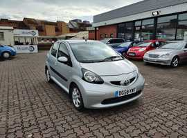 Toyota Aygo, 2008 (58) Silver Hatchback, Manual Petrol, 69,152 miles