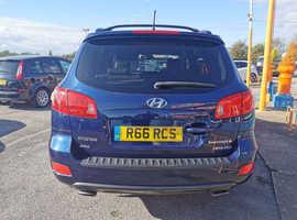 Hyundai Santa Fe, 2006 (56) Blue Estate, Automatic Diesel, 85,000 miles