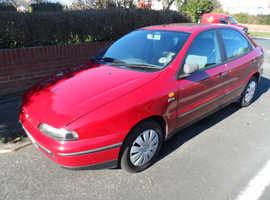 Fiat Brava, 1996 (P) Red Hatchback, Manual Petrol, 44,000 miles,mot