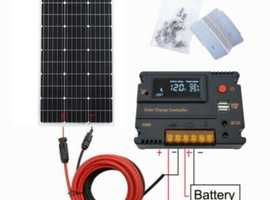 100W Solar Panel Battery Charging & 20A Charge Controller Car Home Boat Caravan