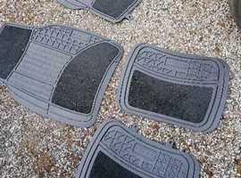 Heavy duty rubber car mats