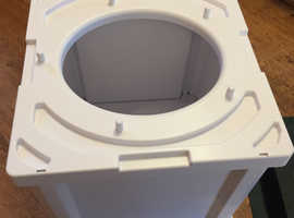 Popaloo portable and collapsible camping toilet.