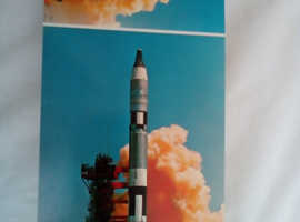 Book of post cards of Astranouts and space rockets