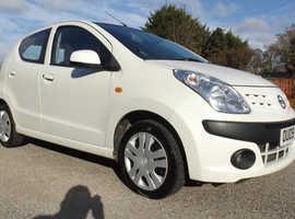 Nissan Pixo, 2009 (09) White Hatchback, Manual Petrol, 78,000 miles