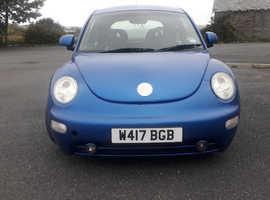 Volkswagen Beetle, 2000 (W) Blue Hatchback, Manual Petrol, 161,000 miles