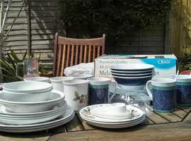 Melaware plates, mugs, bowls etc