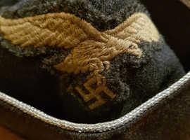 WW2 World War two German Nazi Officers Luftwaffe Side cap Herman Goring Division Original