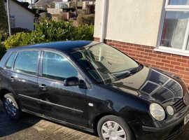 Volkswagen Polo, 2003 (53) Black Hatchback, Manual Petrol, 106,177 miles