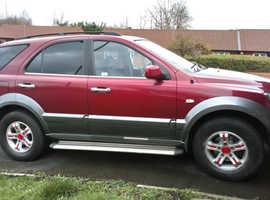 Kia Sorento, 2004 (04) Red Estate, Automatic Diesel, 144,877 miles
