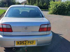 Vauxhall Omega, 2002 (52) Silver Saloon, Automatic Petrol, 79,000 miles