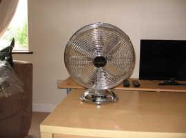 Large chrome 4 speed fan