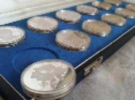 Silver coins collection