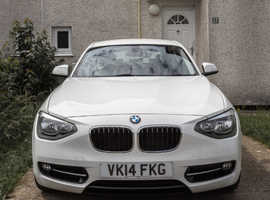 BMW 1 series, 2014 (14) White Hatchback, Manual Diesel, 95,460 miles